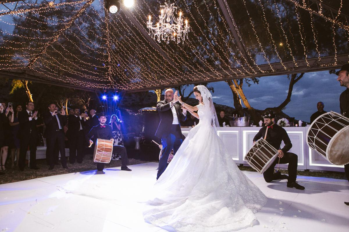Glamorous destination wedding on the Athens Riviera Greece