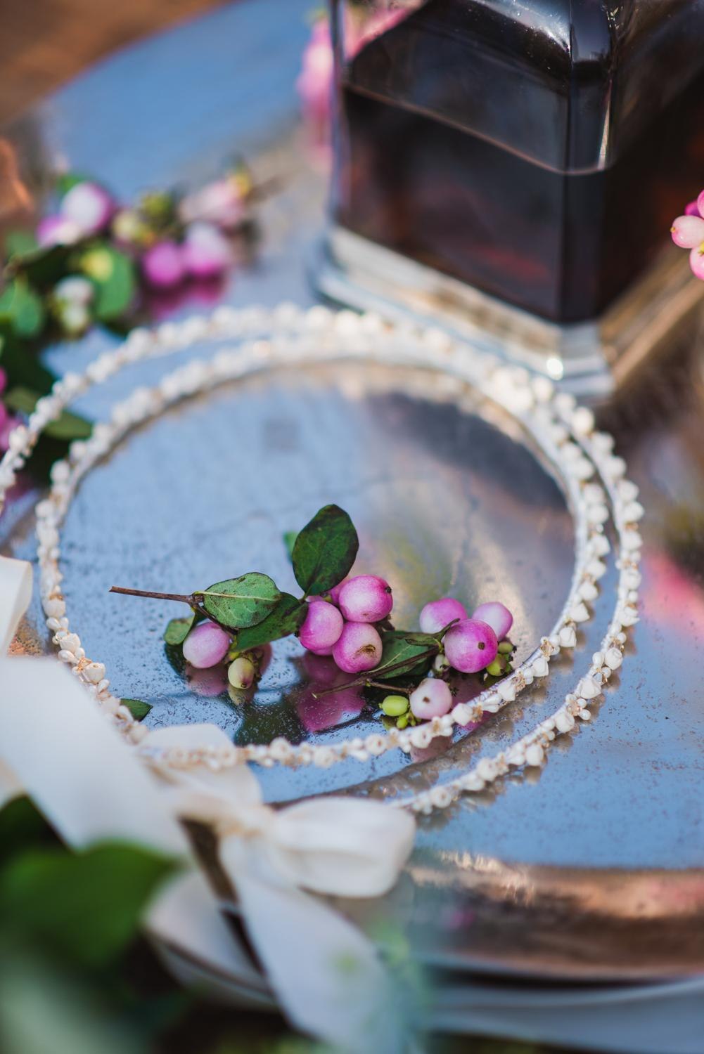 Marsala wedding in Greece's countryside wedding crowns
