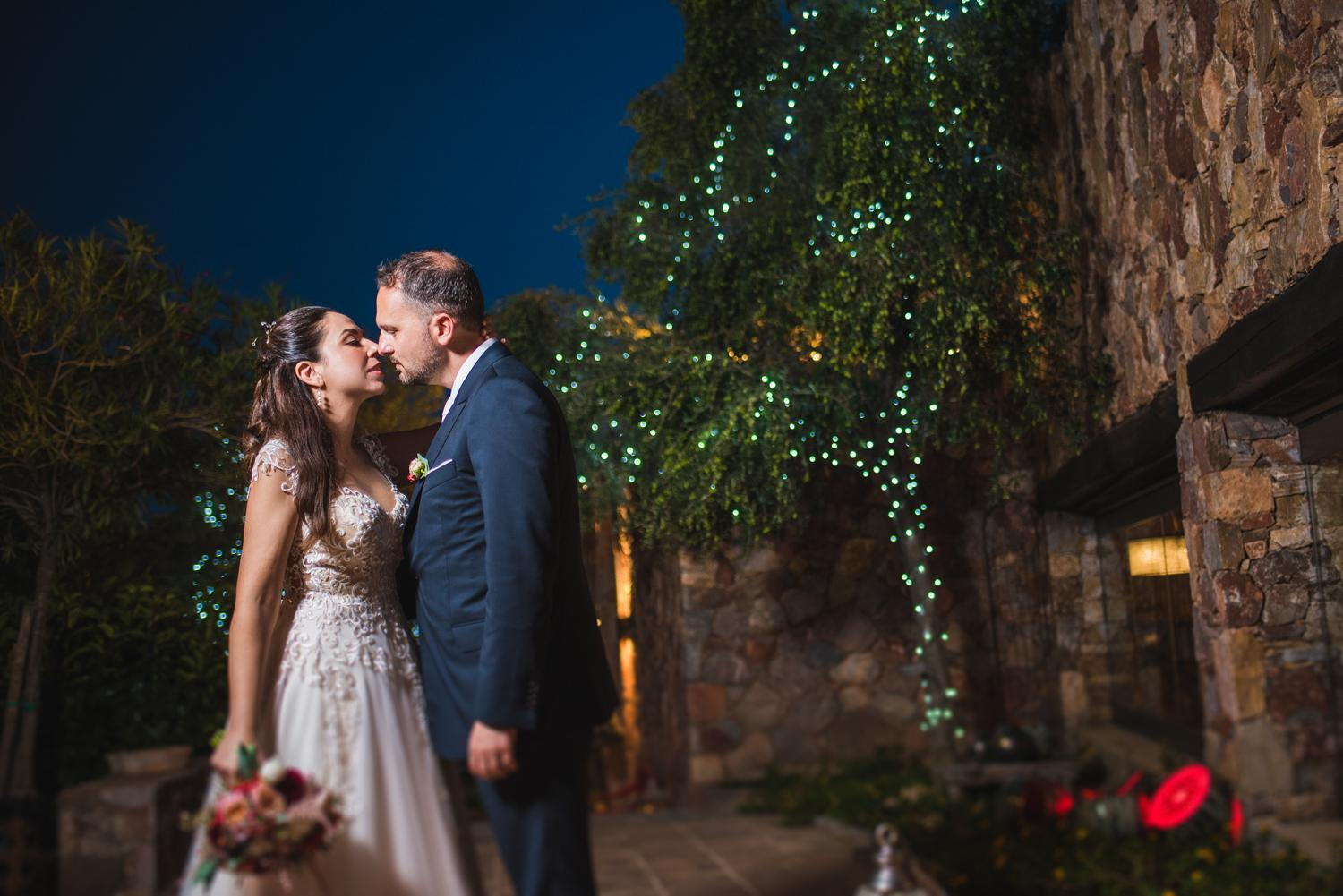 Marsala wedding in Greece's countryside