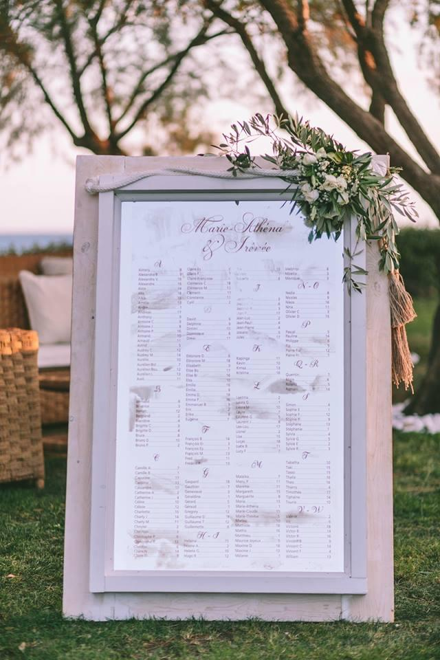 Place setting mirror wedding